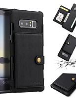 Недорогие -Кейс для Назначение SSamsung Galaxy Note 9 / Note 8 Бумажник для карт / Защита от удара Кейс на заднюю панель Однотонный Мягкий Кожа PU для Note 9 / Note 8