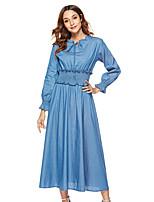billiga -kvinnors bomullsbyxa klänning maxi