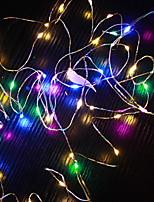 Недорогие -10 м Гирлянды 100 светодиоды Разные цвета Декоративная Аккумуляторы AA 1 комплект