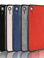 baratos -Capinha Para Apple iPhone XR / iPhone XS Max Áspero Capa traseira Sólido Rígida TPU para iPhone XS / iPhone XR / iPhone XS Max