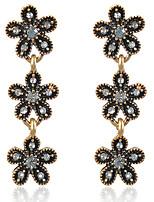 Недорогие -Жен. Классический Набор серьги - Цветы Мода Черный Назначение Для вечеринок Повседневные
