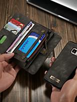 Недорогие -CaseMe Кейс для Назначение SSamsung Galaxy S7 Кошелек / Бумажник для карт / со стендом Чехол Однотонный Твердый Кожа PU для S7