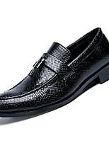 Недорогие -Муж. Комфортная обувь Полиуретан Осень На каждый день Мокасины и Свитер Доказательство износа Черный