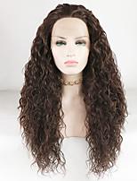 Недорогие -Синтетические кружевные передние парики Жен. Свободные волны / Loose Curl Коричневый Средняя часть 180% Человека Плотность волос Искусственные волосы 18-26 дюймовый Сияние / Регулируется / Жаропрочная