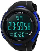 Недорогие -Муж. Спортивные часы Японский Цифровой Черный 30 m Защита от влаги Календарь Секундомер Цифровой Кольцеобразный Мода - Белый Черный Синий Два года Срок службы батареи / Фосфоресцирующий