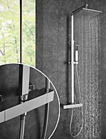 billiga -Duschkran / Badrum Tvättställ Kran - Nutida Krom Väggmonterad Keramisk Ventil