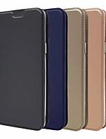abordables -Coque Pour Samsung Galaxy S9 Plus / S9 Porte Carte / Avec Support / Magnétique Coque Intégrale Couleur Pleine Dur faux cuir pour S9 / S9 Plus / S8 Plus