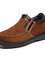Недорогие -Муж. Комфортная обувь Синтетика Зима На каждый день Мокасины и Свитер Сохраняет тепло Черный / Желтый / Коричневый