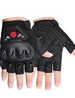 Недорогие -Half-палец Все Мотоцикл перчатки Углеродное волокно / Полиуретановая кожа Износостойкий / Non Slip