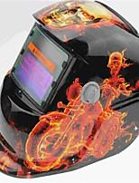 Недорогие -солнечный авто потемнение сварочный шлем 107 мотоцикл череп