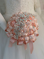 Недорогие -Свадебные цветы Букеты Свадьба / Свадебные прием Шелковый Как атласные / Бусины 11-20 cm
