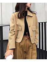 Недорогие -женский куртка - сплошной цвет