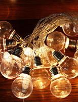 abordables -2,5 m Guirlandes Lumineuses 10 LED Blanc Chaud Décorative Alimentation Solaire 1 set