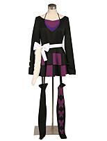 Недорогие -Вдохновлен Косплей Косплей Аниме Косплэй костюмы Косплей Костюмы Контрастных цветов / Сплошной цвет Юбки / Носки / лук Назначение Универсальные