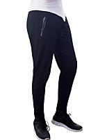 abordables -Homme Ceinture élastique / Cordon Pantalons de Course - Noir, Gris Des sports Couleur unie Spandex Pantalon / Surpantalon Fitness, Gymnastique, Faire des exercices Tenues de Sport Respirable, Séchage