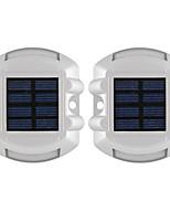 Недорогие -2pcs 3 W Светодиодный уличный фонарь Водонепроницаемый / Работает от солнечной энергии / Декоративная Зеленый 1.2 V Уличное освещение 6 Светодиодные бусины