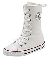 Недорогие -Девочки Обувь Полотно Весна & осень Удобная обувь Ботинки Шнуровка для Дети Белый / Черный / Красный
