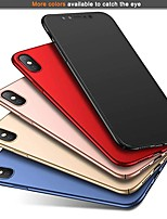 abordables -Coque Pour Apple iPhone XR / iPhone XS Max Ultrafine / Dépoli Coque Couleur Pleine Dur PC pour iPhone XS / iPhone XR / iPhone XS Max