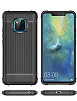 Недорогие -Кейс для Назначение Huawei Huawei Mate 20 Lite / Huawei Mate 20 Pro Защита от удара Кейс на заднюю панель Однотонный Мягкий ТПУ для Huawei Nova 3i / Huawei P Smart Plus / Huawei Honor 8X