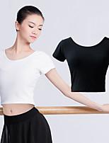 abordables -Danse classique Hauts Femme Entraînement / Utilisation Lycra / 100% Coton Elastique Manches Courtes Haut