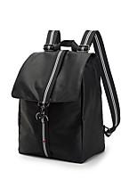 Недорогие -Муж. Мешки PU рюкзак Молнии Сплошной цвет Черный