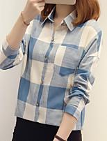 abordables -chemise femme - col chemise à carreaux