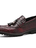 Недорогие -Муж. Официальная обувь Полиуретан Осень Деловые Мокасины и Свитер Дышащий Черный / Винный / Свадьба