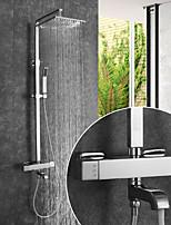 abordables -Robinet de douche / Robinet lavabo - Moderne Chrome Montage mural Soupape céramique