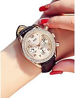 Недорогие -Жен. Наручные часы Кварцевый Черный / Белый / Красный 30 m Защита от влаги Новый дизайн Аналоговый Дамы Винтаж Мода - Лиловый Красный Розовый