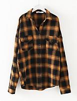 Недорогие -женская хлопчатобумажная рубашка - воротник рубашки