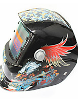 Недорогие -солнечная автоматическая потемнение сварочный шлем 107 цветная резьба