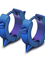 Недорогие -Муж. 3D Серьги-гвоздики - Цвет радуги / Черный / Тёмно-синий Назначение Повседневные Бар