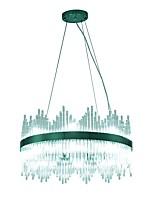 baratos -VALLKIN Circular Lustres Luz Ambiente Galvanizar Metal Vidro Ajustável 110-120V / 220-240V Branco Quente / Branco Frio