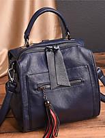 Недорогие -Жен. Мешки PU рюкзак Молнии Сплошной цвет Красный / Серый / Лиловый