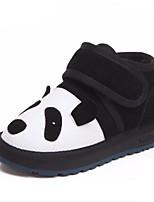 Недорогие -Мальчики / Девочки Обувь Кожа Зима Зимние сапоги / Меховая подкладка Ботинки На липучках для Дети / Для подростков Черный