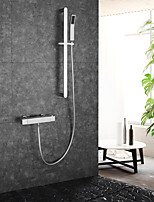 Недорогие -Смеситель для душа / Ванная раковина кран Хром На стену Керамический клапан