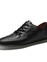 Недорогие -Муж. Комфортная обувь Полиуретан Осень На каждый день Туфли на шнуровке Дышащий Белый / Черный / Коричневый