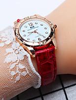 Недорогие -Жен. Дамы Наручные часы Кварцевый Повседневные часы PU Группа Аналоговый Мода Черный / Белый / Красный - Черный Красный Розовый