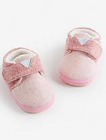 Недорогие -Мальчики / Девочки Обувь Хлопок Осень Удобная обувь На плокой подошве для Дети (1-4 лет) Синий / Розовый