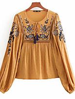 abordables -chemise femme - col rond géométrique / solide