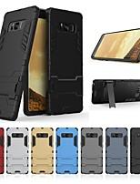 Недорогие -Кейс для Назначение SSamsung Galaxy Note 8 Защита от удара / со стендом Кейс на заднюю панель Однотонный / броня Твердый ПК для Note 8