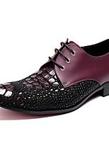 Недорогие -Муж. Официальная обувь Наппа Leather Зима Деловые / Английский Туфли на шнуровке Сохраняет тепло Черный / Для вечеринки / ужина