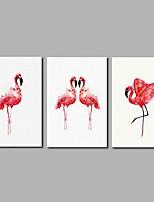 Недорогие -С картинкой Отпечатки на холсте - Птицы / Модерн Modern