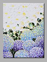 abordables -Peinture à l'huile Hang-peint Peint à la main - Abstrait / A fleurs / Botanique Contemporain / Moderne Toile