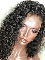 Недорогие -Не подвергавшиеся окрашиванию 360 Лобовой Парик Бразильские волосы Loose Curl Парик Ассиметричная стрижка 130% Плотность волос Женский Натуральный Природные волосы Нейтральный Жен. Длинные