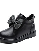 Недорогие -Девочки Обувь Кожа Зима Зимние сапоги Ботинки Бант / Молнии для Дети Черный / Красный