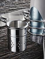 Недорогие -Полка для ванной Резная отделка Modern Нержавеющая сталь 1шт - Ванная комната / Гостиничная ванна Односпальный комплект (Ш 150 x Д 200 см) На стену