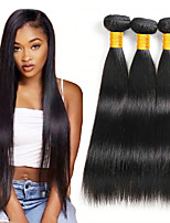 abordables -Lot de 3 Cheveux Brésiliens Cheveux Eurasiens Droit 8A Cheveux Naturel humain Cheveux humains Naturels Non Traités Cadeaux Costumes Cosplay Tissages de cheveux humains 8-28 pouce Couleur naturelle