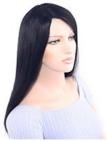 Недорогие -Remy 360 Лобовой Парик Бразильские волосы Шелковисто-прямые Парик Ассиметричная стрижка 130% Плотность волос Для вечеринок Классический Удобный Нейтральный Жен. Длинные