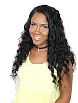 Недорогие -человеческие волосы Remy Необработанные натуральные волосы 360 Лобовой Фронтальная часть Лента спереди Парик Бразильские волосы Волнистый Свободные волны Парик Глубокое разделение 180% Плотность волос